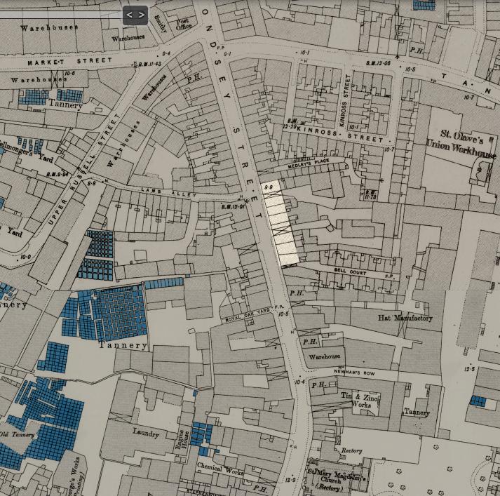 Bermondsey Street map