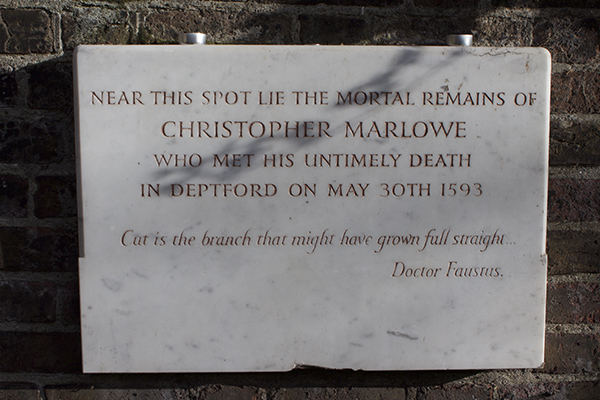 Christopher Marlowe plaque