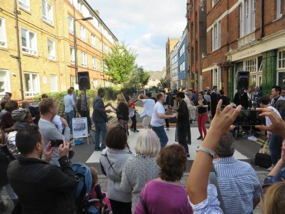 Dance stage at the Bermondsey Street Festival