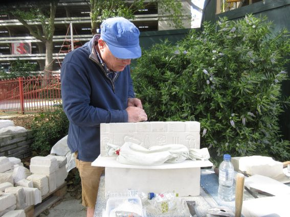 Richard Miller working on Bankside Puzzle