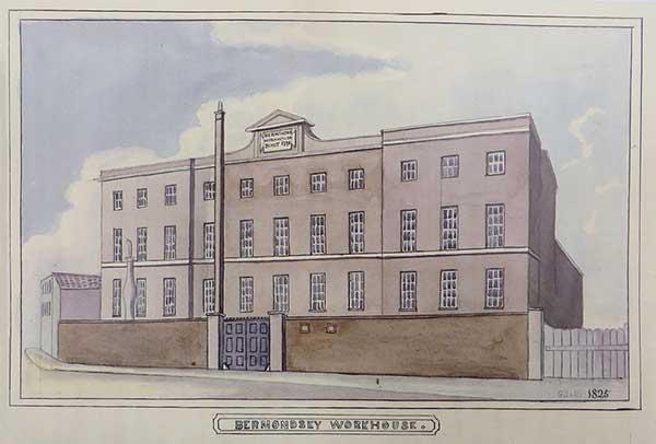 Bermondsey Workhouse, Russell Street, 1825 by John Buckler