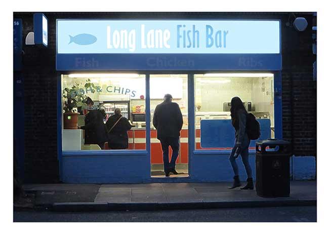 Long Lane FishBar by Richard Miller
