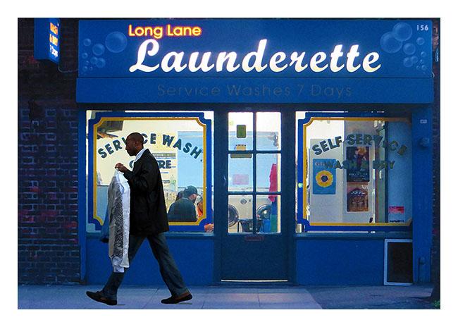 Long Lane Launderette by Richard Miller