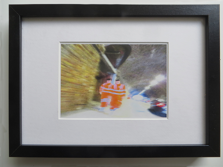 Bermondsey St Tunnel Workers Framed